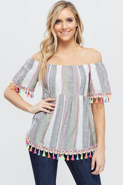 Multi color tassel top
