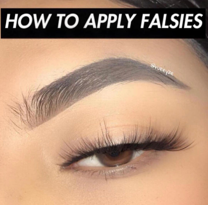 How to Apply Falsies (Pictorial)