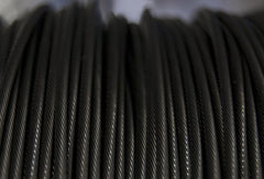 "Black Wire Rope (5/64"" 1X19)"