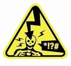 ZFX Electrocution Warning Label