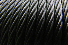 "Black Wire Rope (5/32"" 7x19)"