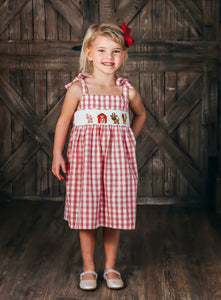Farm Animal Smocked Dress