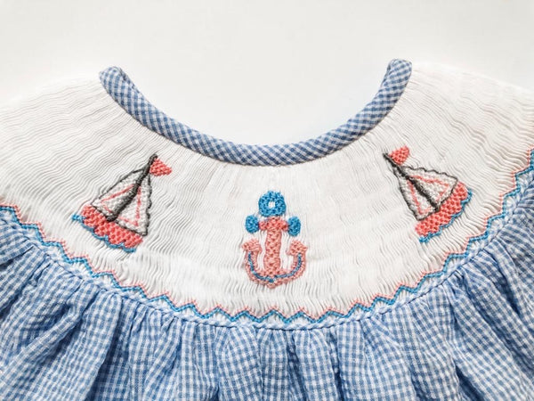Nautical Angel Sleeve Dress