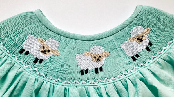 Lamb Smocked Bubble