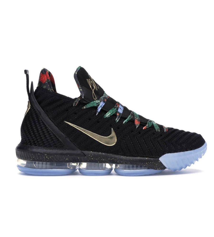 """0afac90593946 Lebron 16 """"Watch The Throne"""" Pre Owned Size 10"""