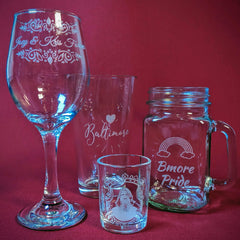 Chase Street Accessories & Engraving Glassware for Weddings