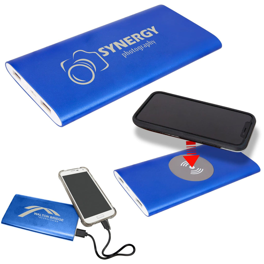 8000MAH Power Bank & Wireless Charger - Office Gifts