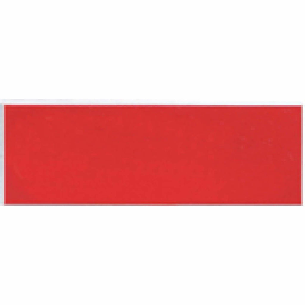 Acrylic Nametag - 3x1 Rectangle / White lettering on red - Bags & Apparel