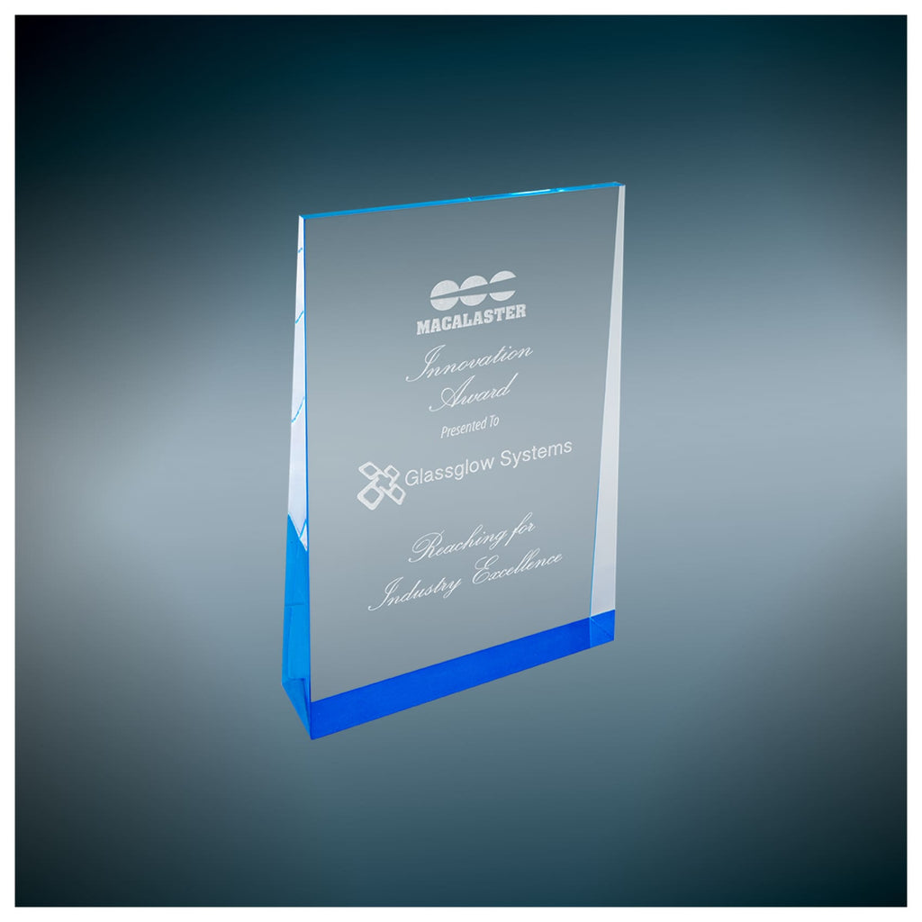 Acrylic Wedge Award - 4.5 x 7 / Blue - Acrylic Awards
