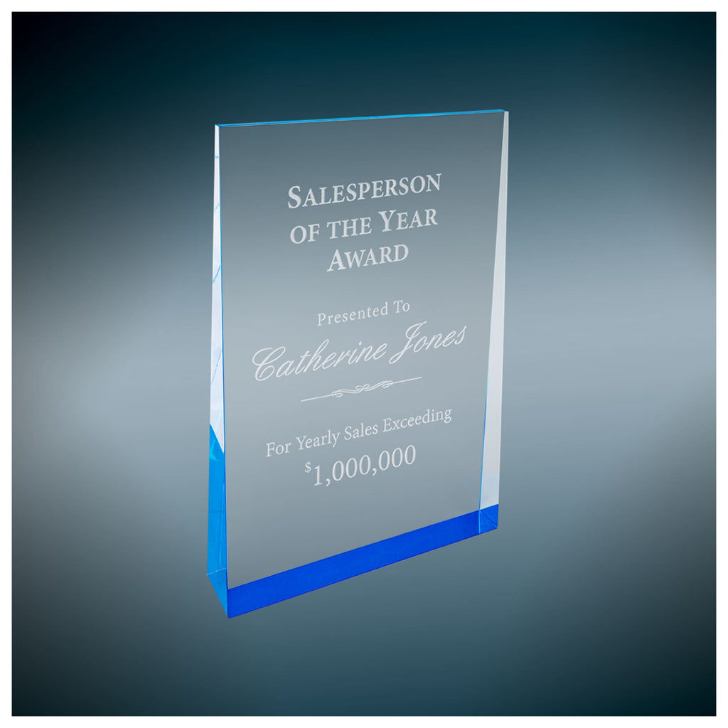 Acrylic Wedge Award - 5 x 8 / Blue - Acrylic Awards
