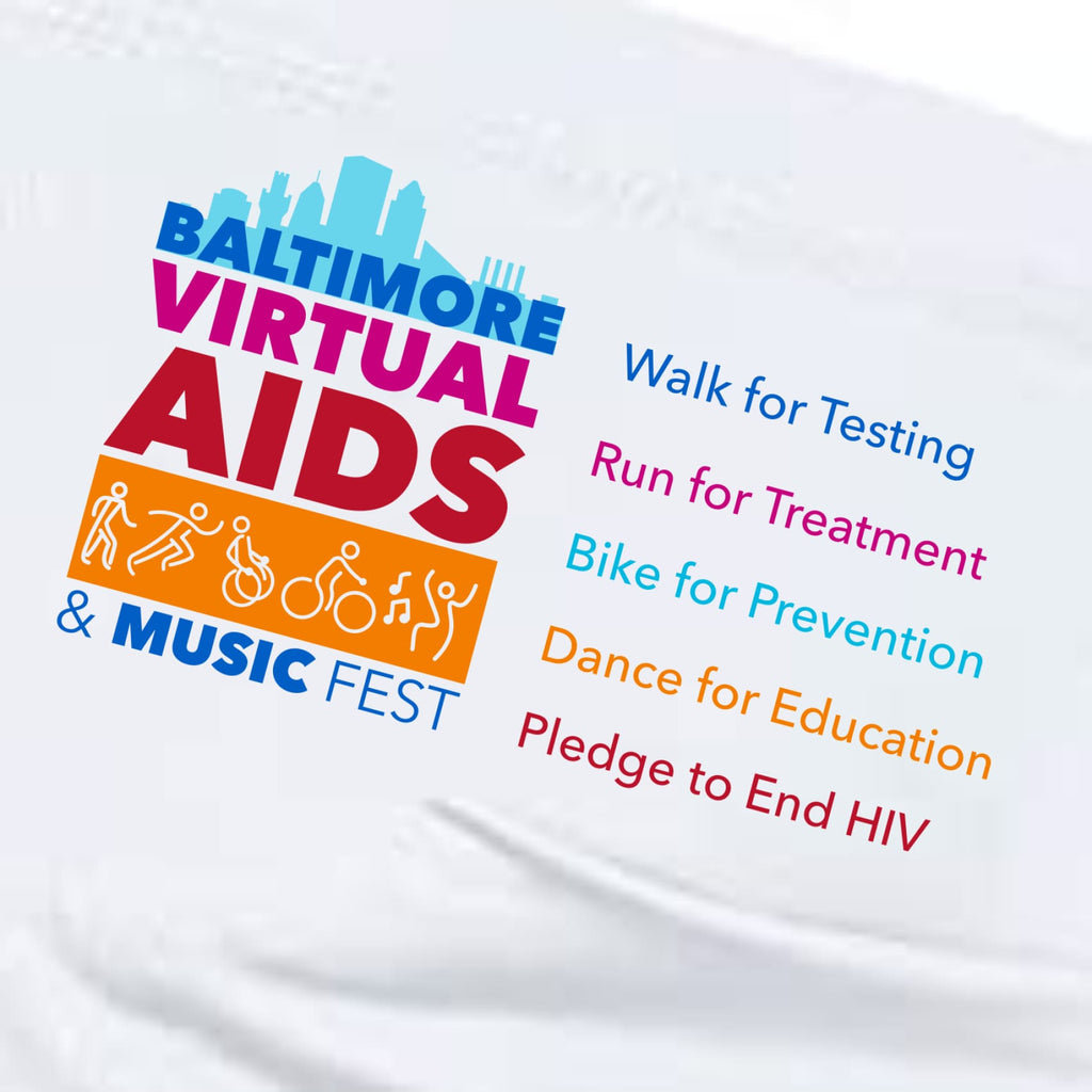 Baltimore AIDS Walk 2021 Gaiter Face Cover - Chase Street Originals