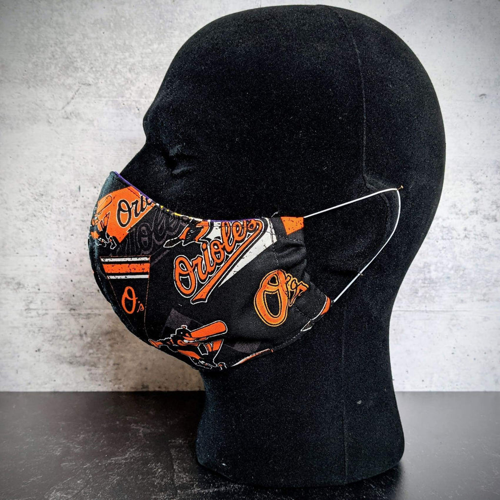 Baltimore Orioles/Ravens Cotton Face Mask with Filter Pocket - Chase Street Originals