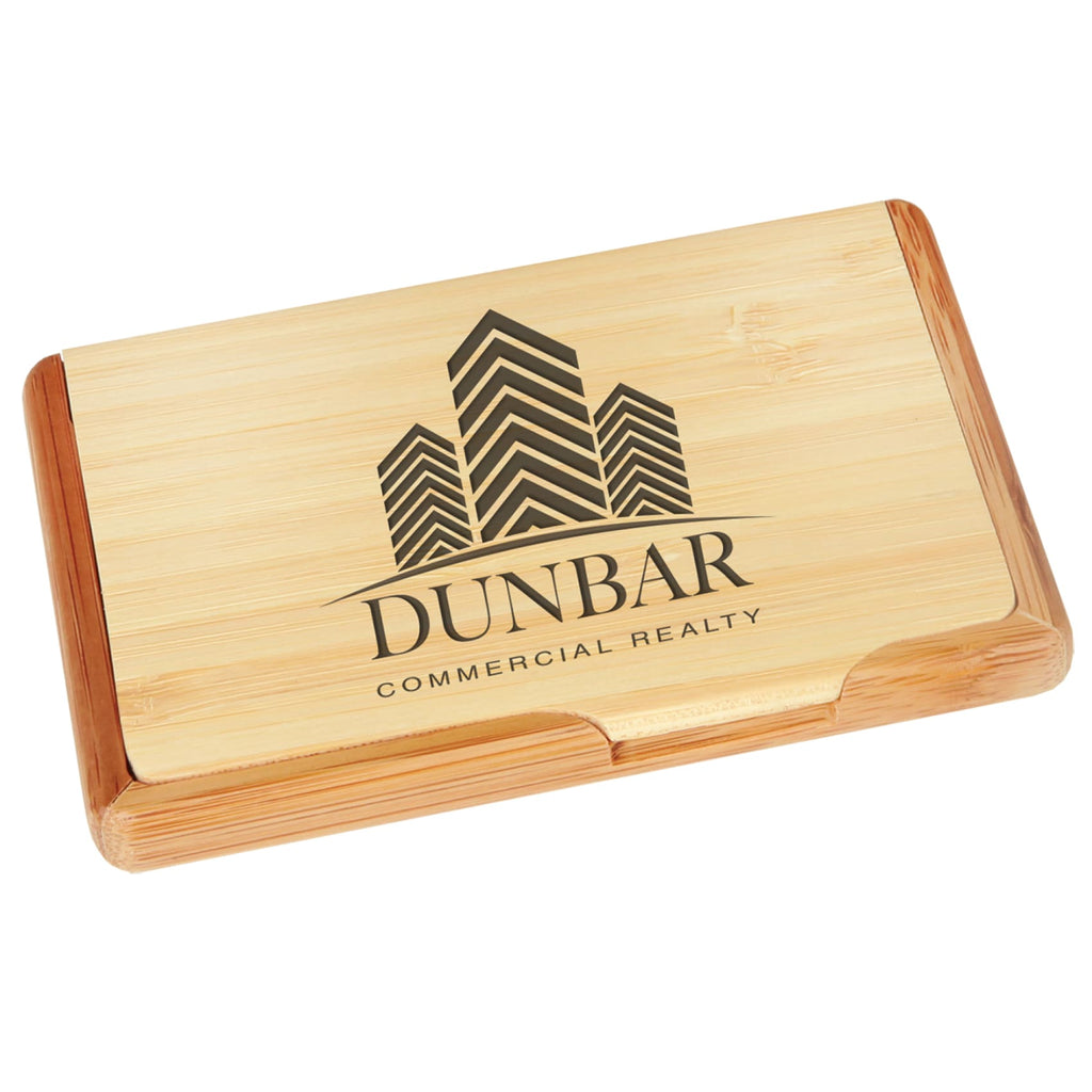 Bamboo Business Card Holder - Office Gifts