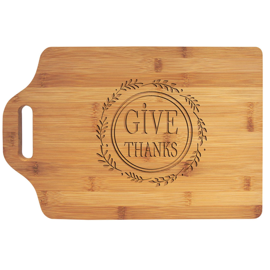 Bamboo Cutting Board with Handle - 15 x 10.25 - Home Gifts