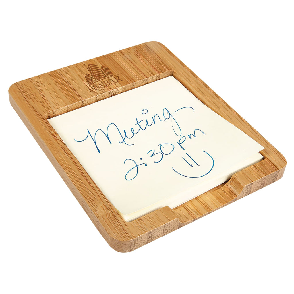 Bamboo Sticky Note Holder - Office Gifts