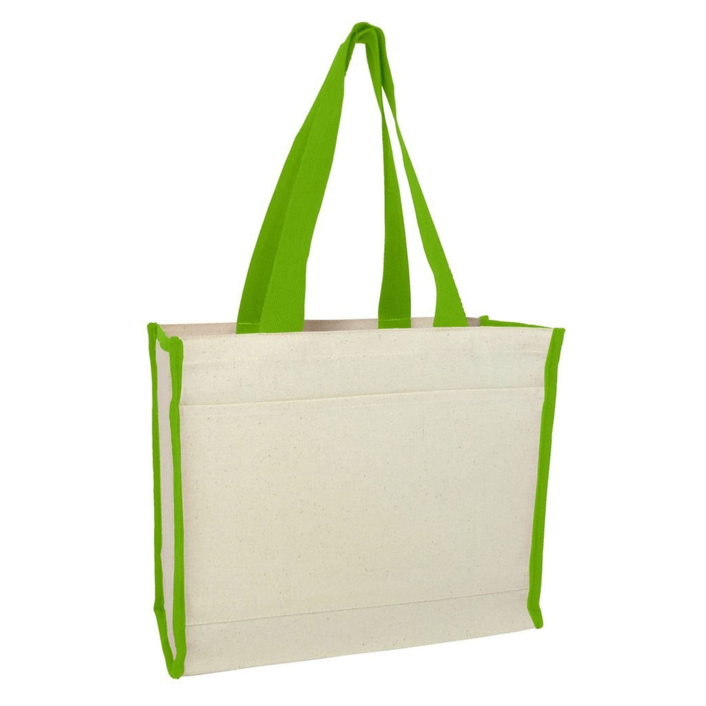 Canvas Tote with Premium Trim - Lime - Bags & Apparel