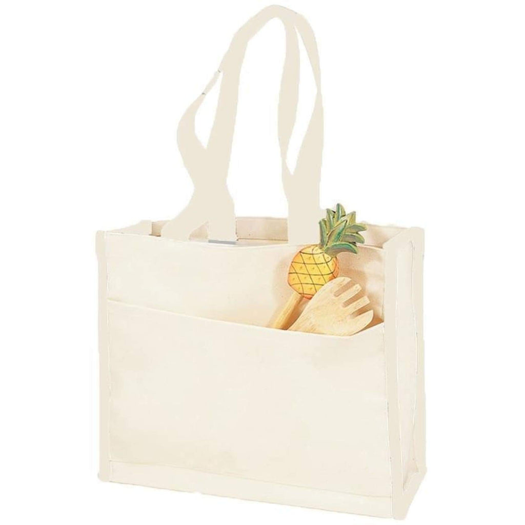 Canvas Tote with Premium Trim - Natural - Bags & Apparel