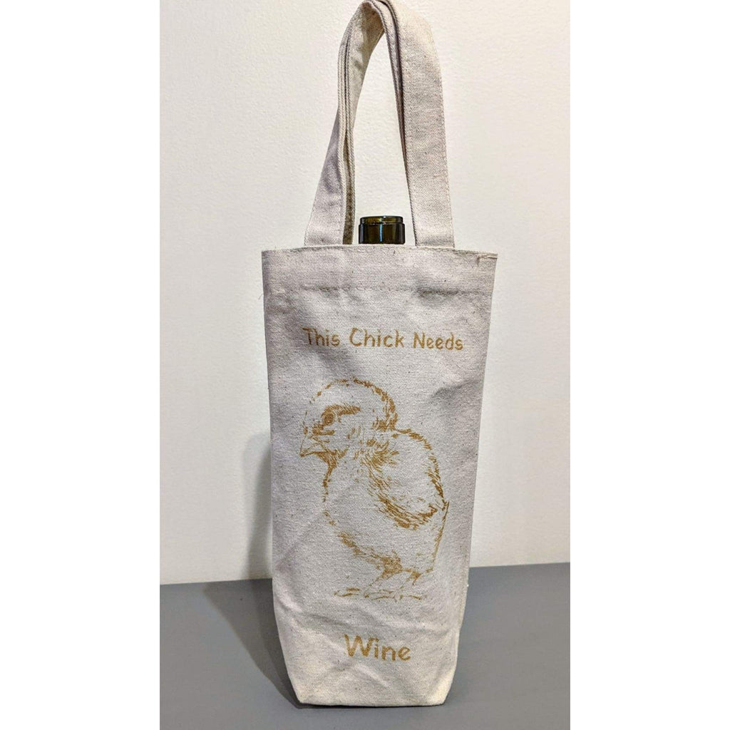 Canvas Wine Tote - Drinkware