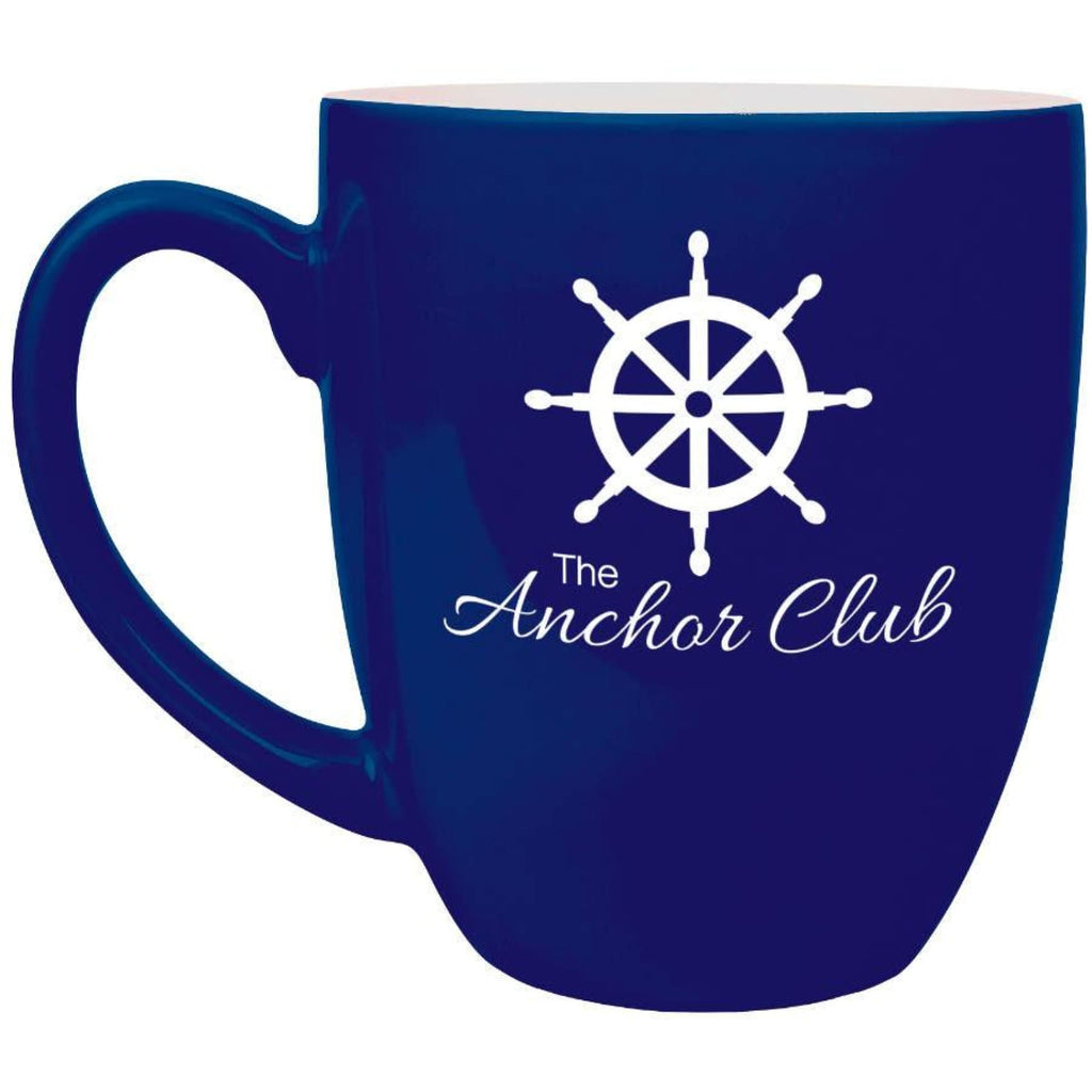 Ceramic Bistro Mug - Blue - Drinkware