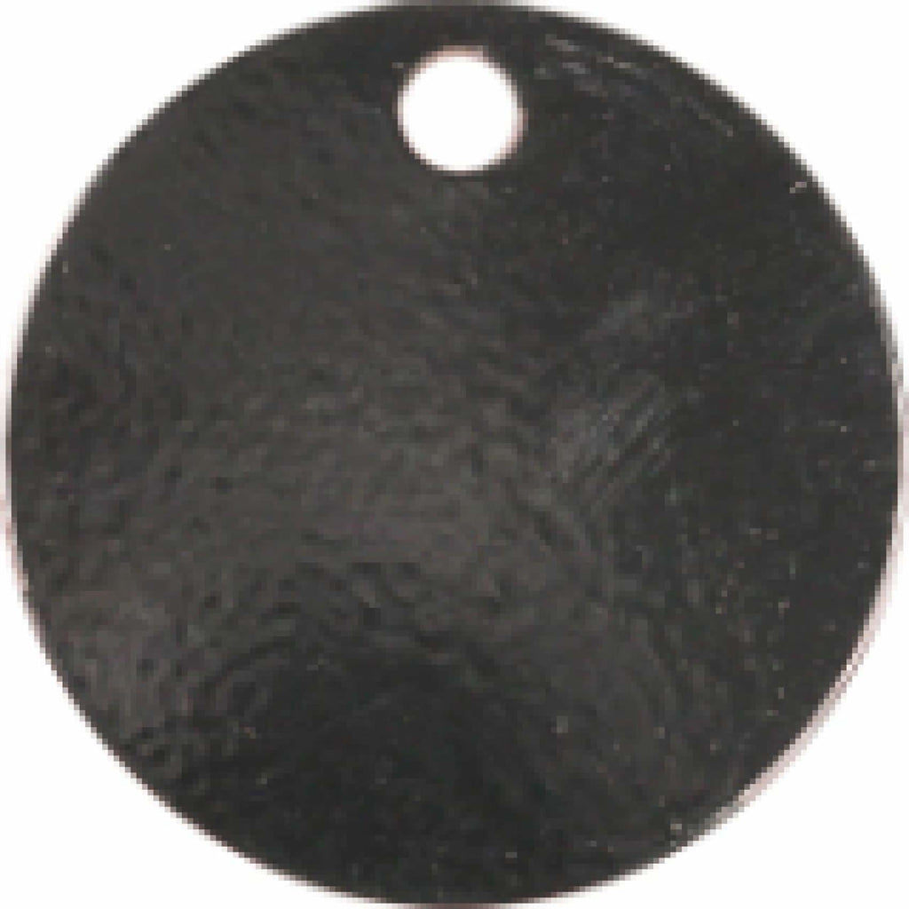 Charm or Pet Tag - 1.5 Circle / Black - Bags & Apparel