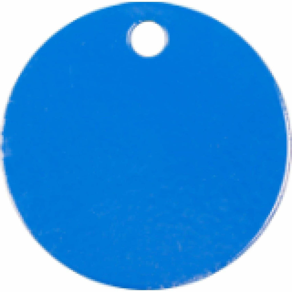 Charm or Pet Tag - 1.5 Circle / Blue - Bags & Apparel