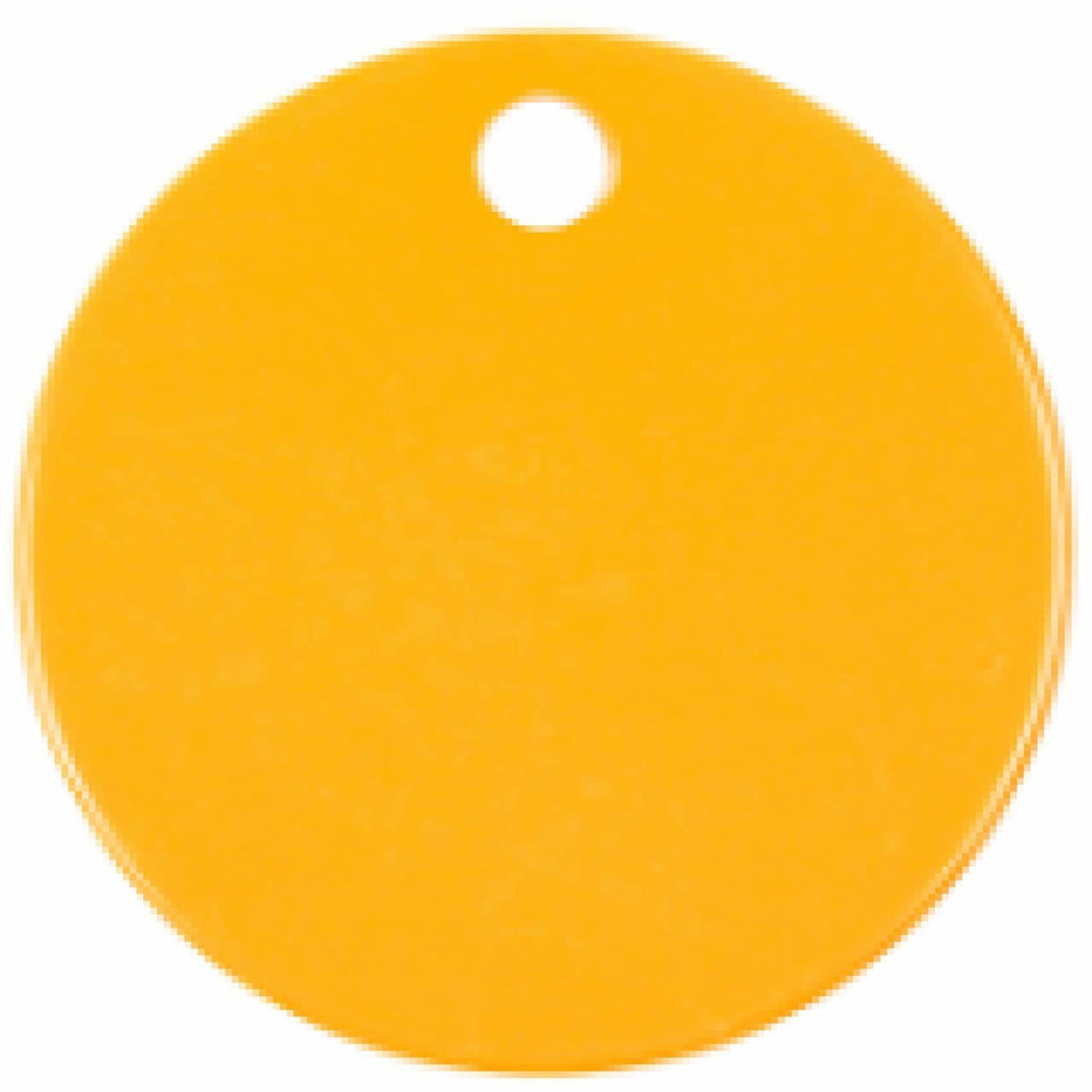 Charm or Pet Tag - 1.5 Circle / Orange - Bags & Apparel
