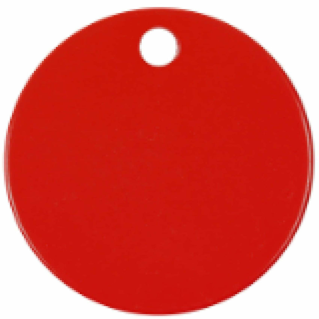 Charm or Pet Tag - 1.5 Circle / Red - Bags & Apparel