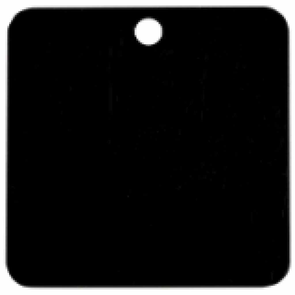 Charm or Pet Tag - 1.5 Square / Black - Bags & Apparel
