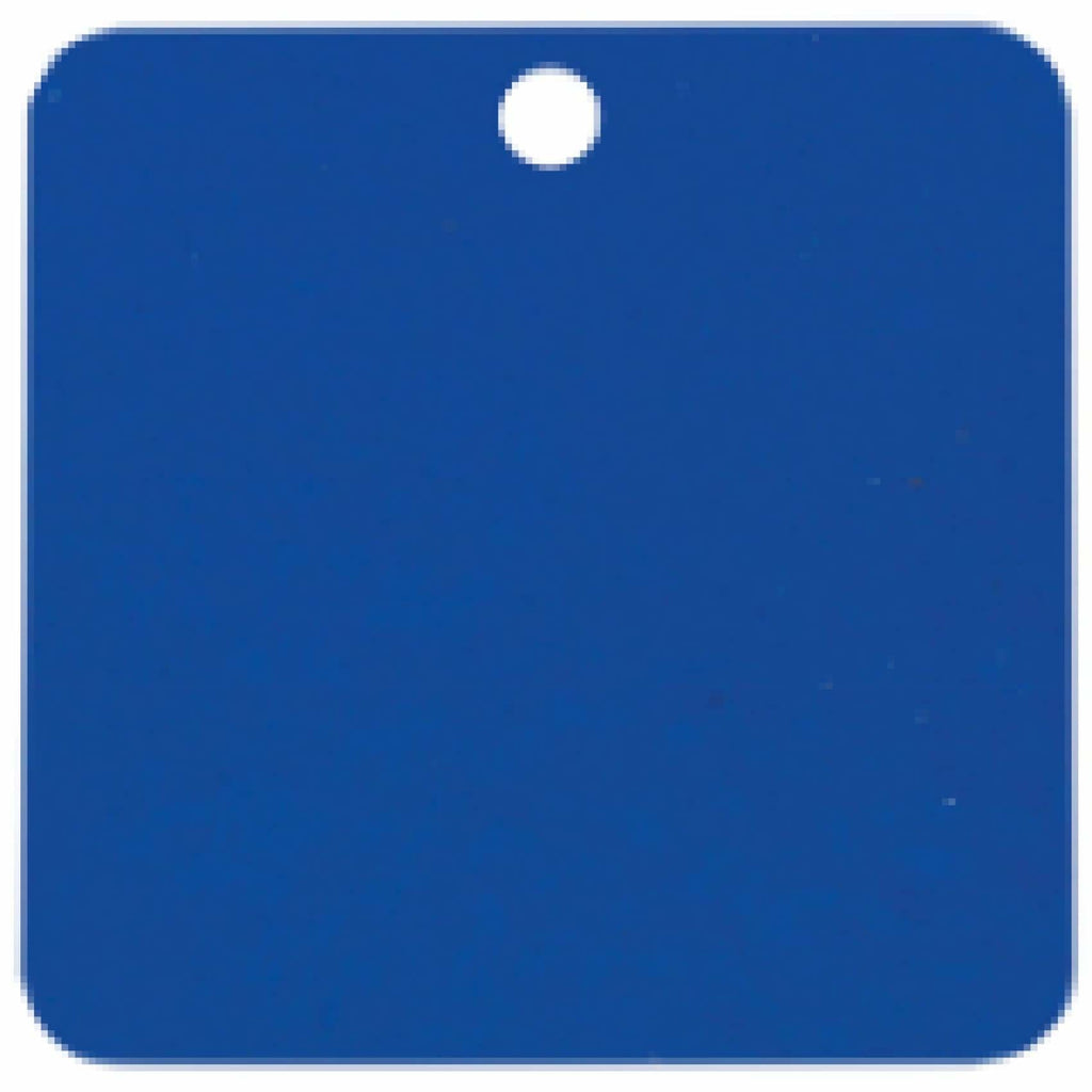 Charm or Pet Tag - 1.5 Square / Blue - Bags & Apparel