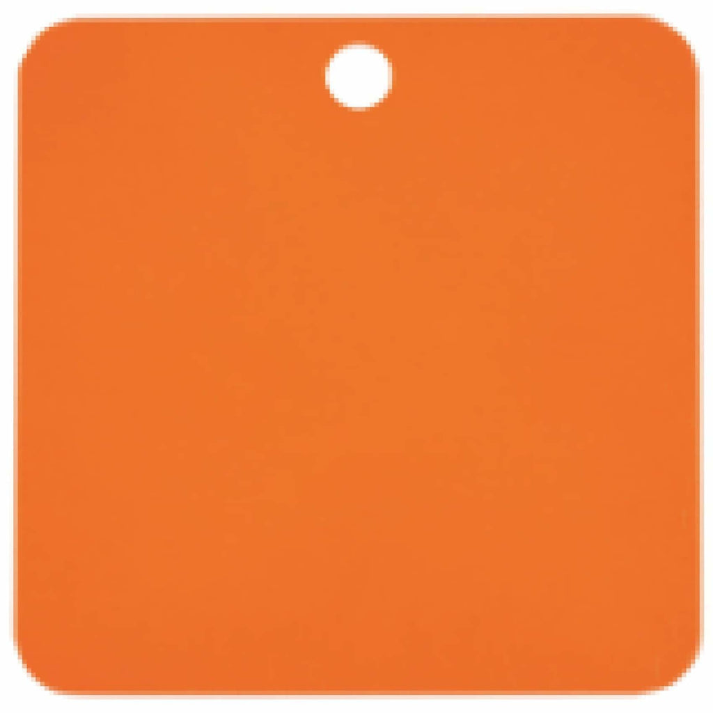 Charm or Pet Tag - 1.5 Square / Orange - Bags & Apparel