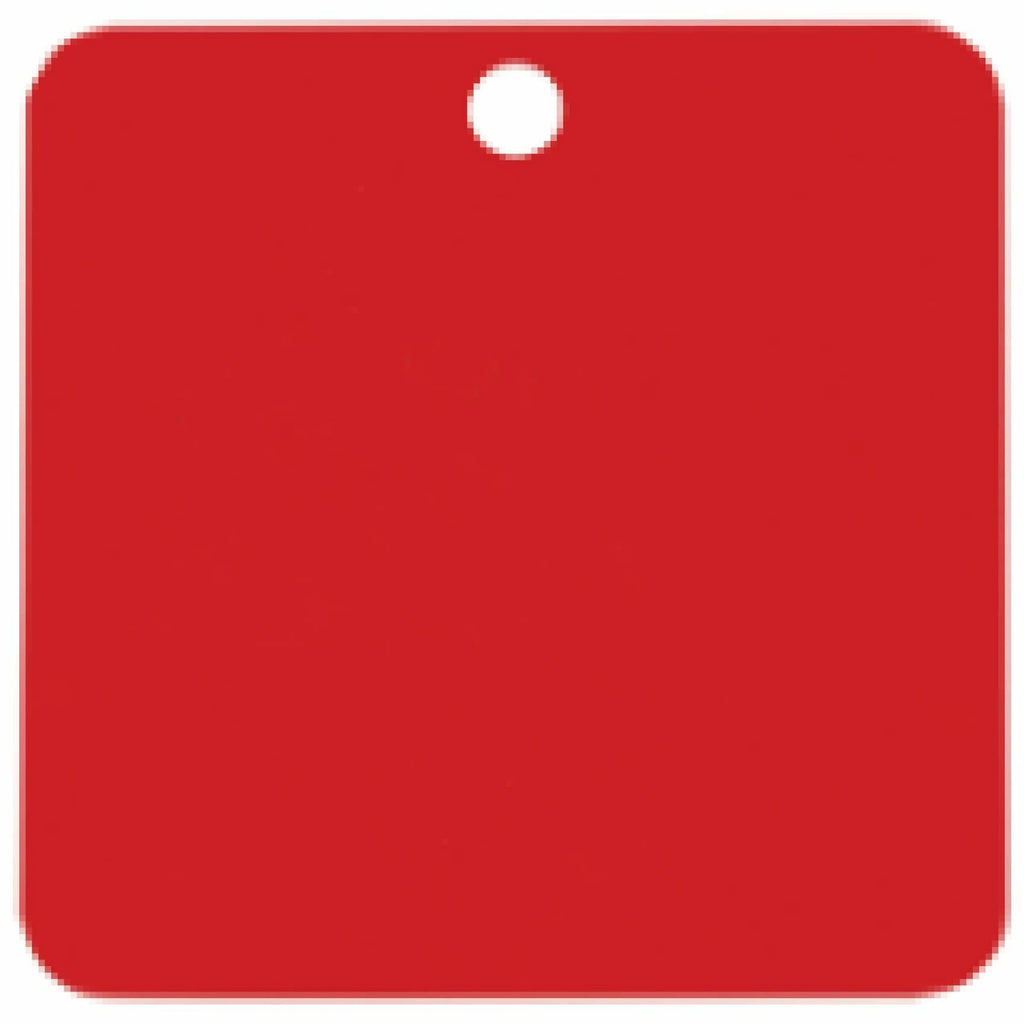 Charm or Pet Tag - 1.5 Square / Red - Bags & Apparel
