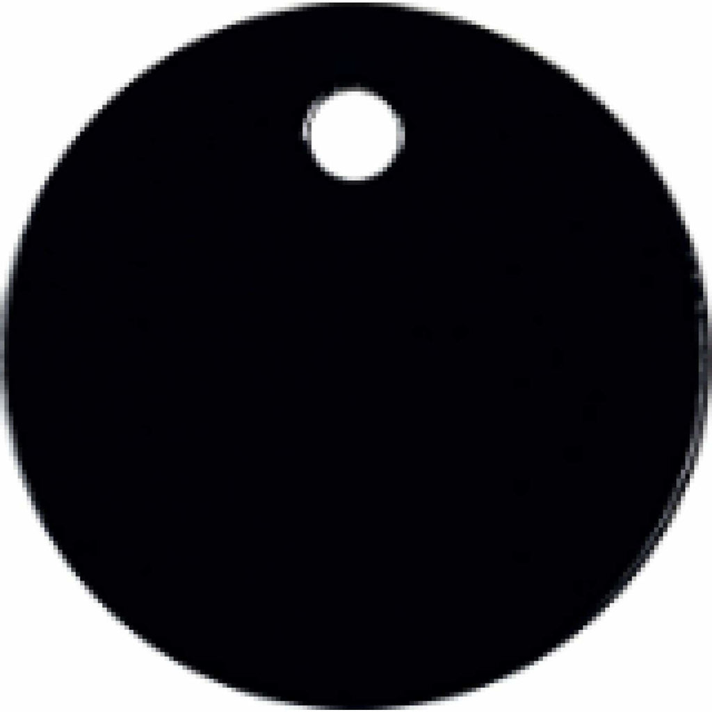 Charm or Pet Tag - 1 Circle / Black - Bags & Apparel