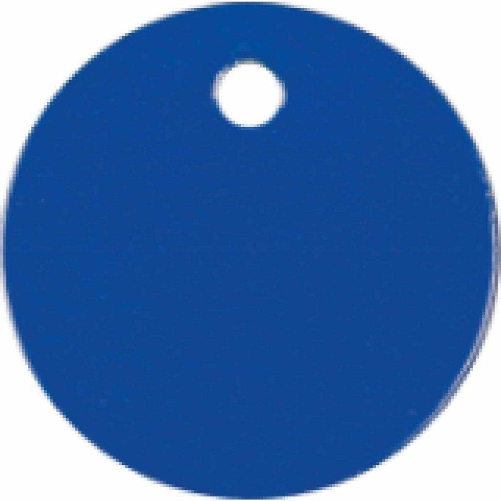 Charm or Pet Tag - 1 Circle / Blue - Bags & Apparel