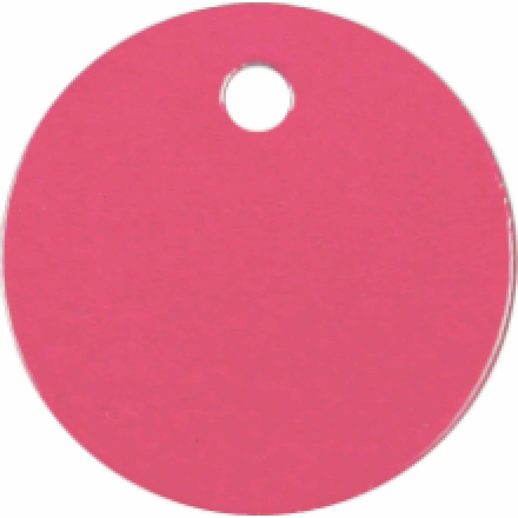 Charm or Pet Tag - 1 Circle / Pink - Bags & Apparel
