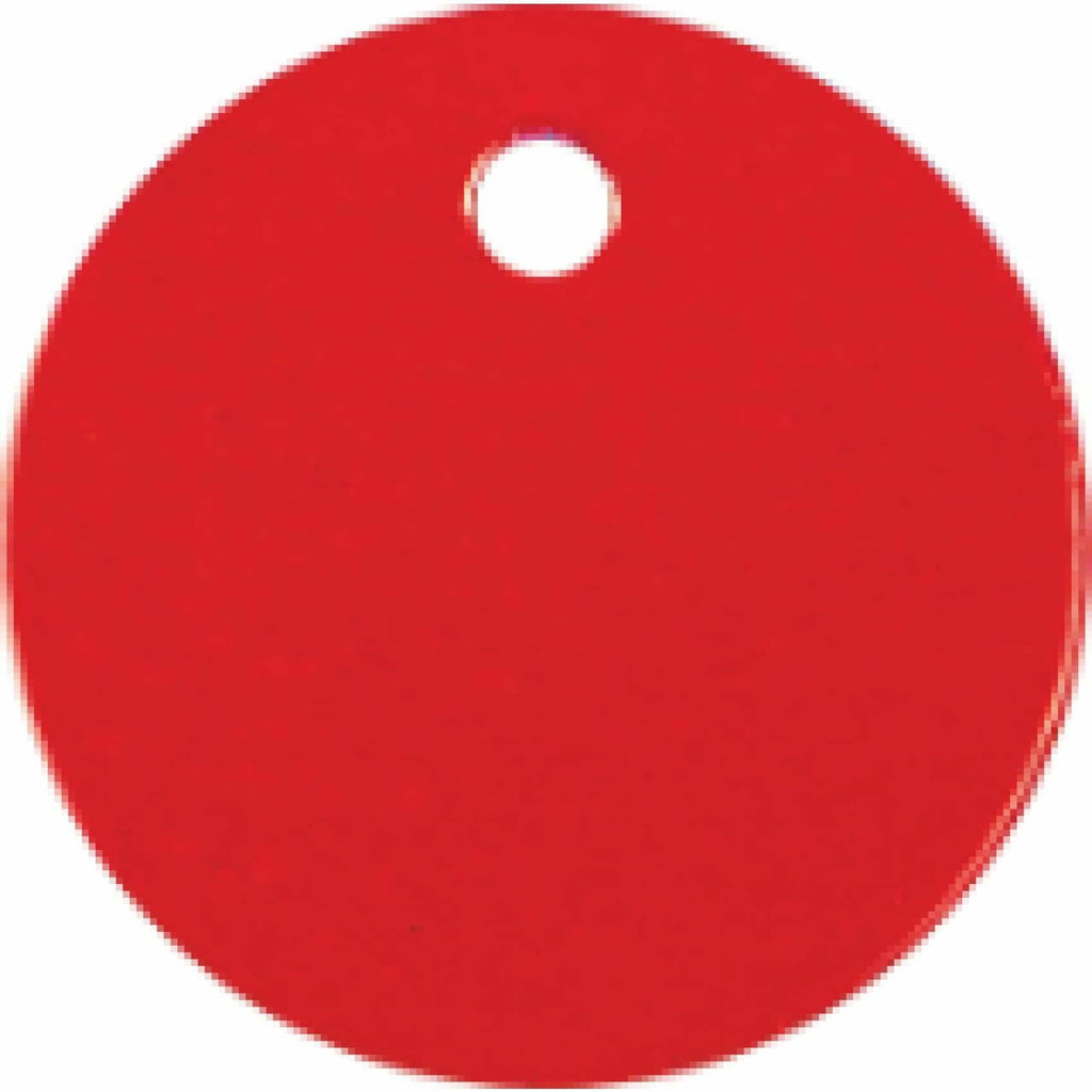 Charm or Pet Tag - 1 Circle / Red - Bags & Apparel