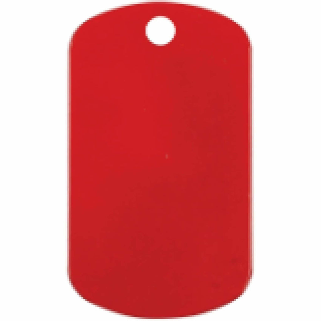 Charm or Pet Tag - Dog Tag / Red - Bags & Apparel