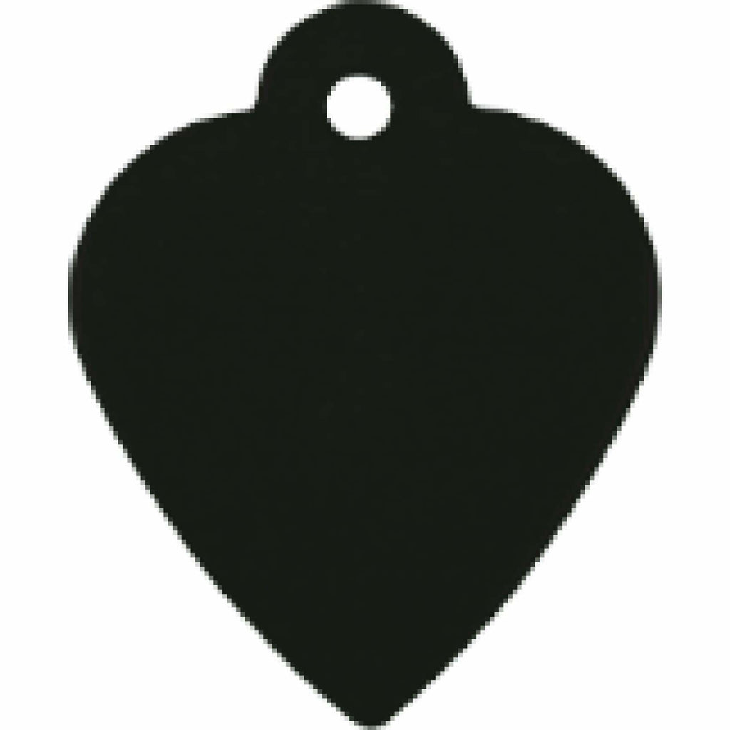 Charm or Pet Tag - Heart / Black - Bags & Apparel