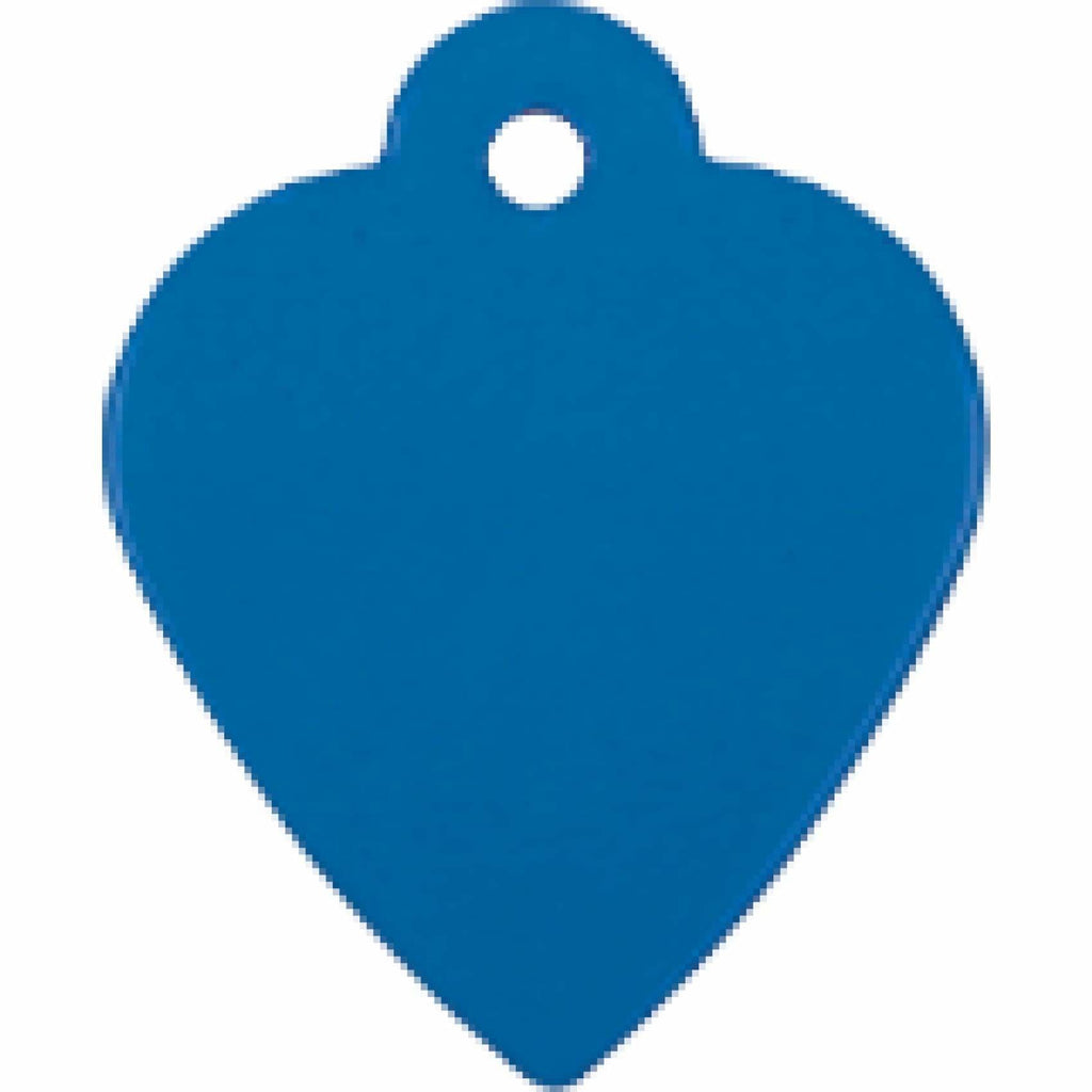 Charm or Pet Tag - Heart / Blue - Bags & Apparel