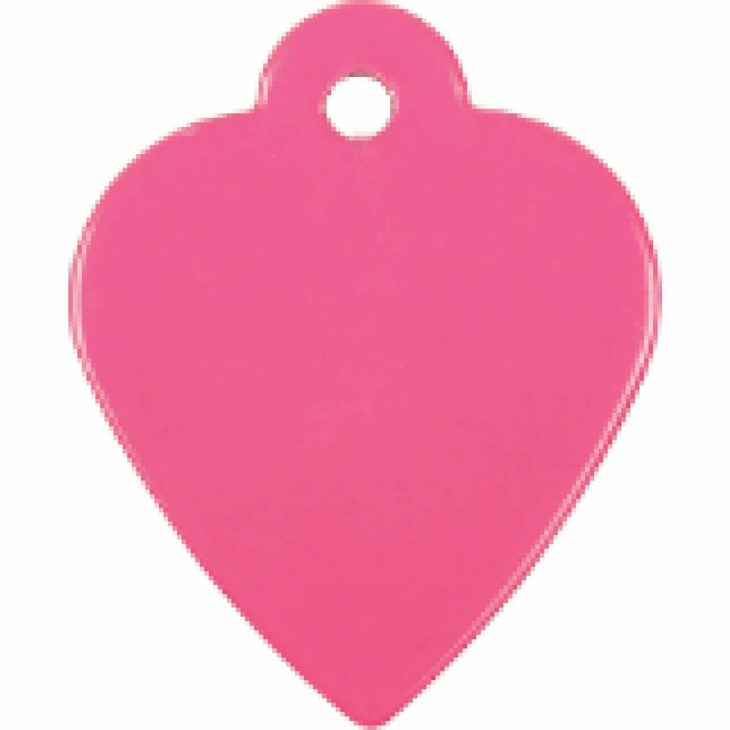 Charm or Pet Tag - Heart / Pink - Bags & Apparel