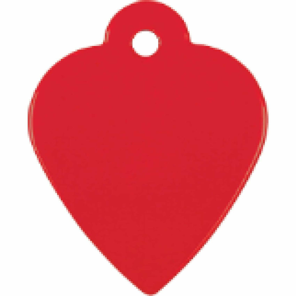 Charm or Pet Tag - Heart / Red - Bags & Apparel