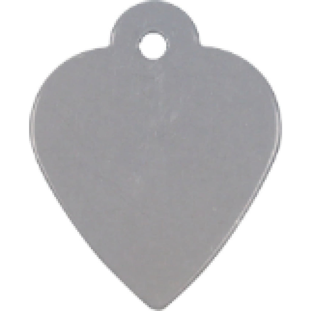 Charm or Pet Tag - Heart / Silver - Bags & Apparel