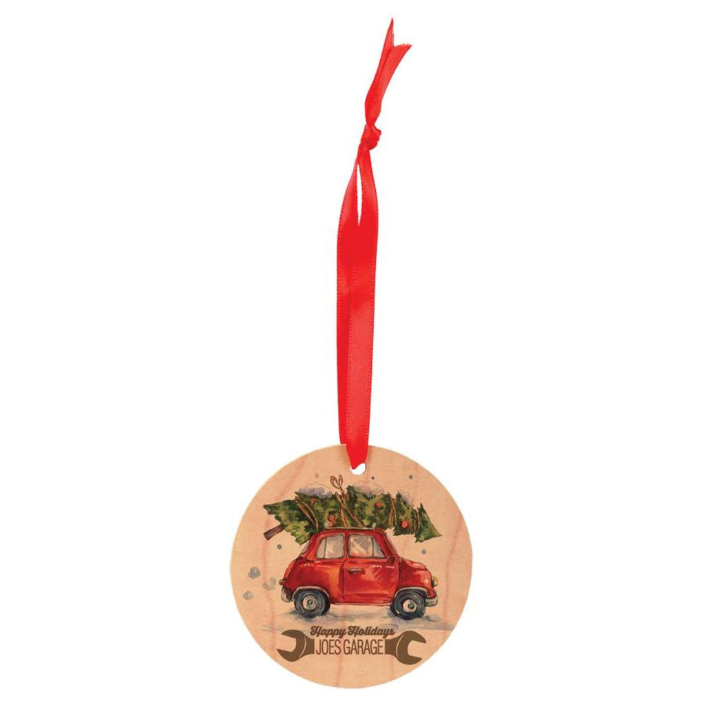 Color Maple Wood Ornaments - 2.75 Round - Home Gifts