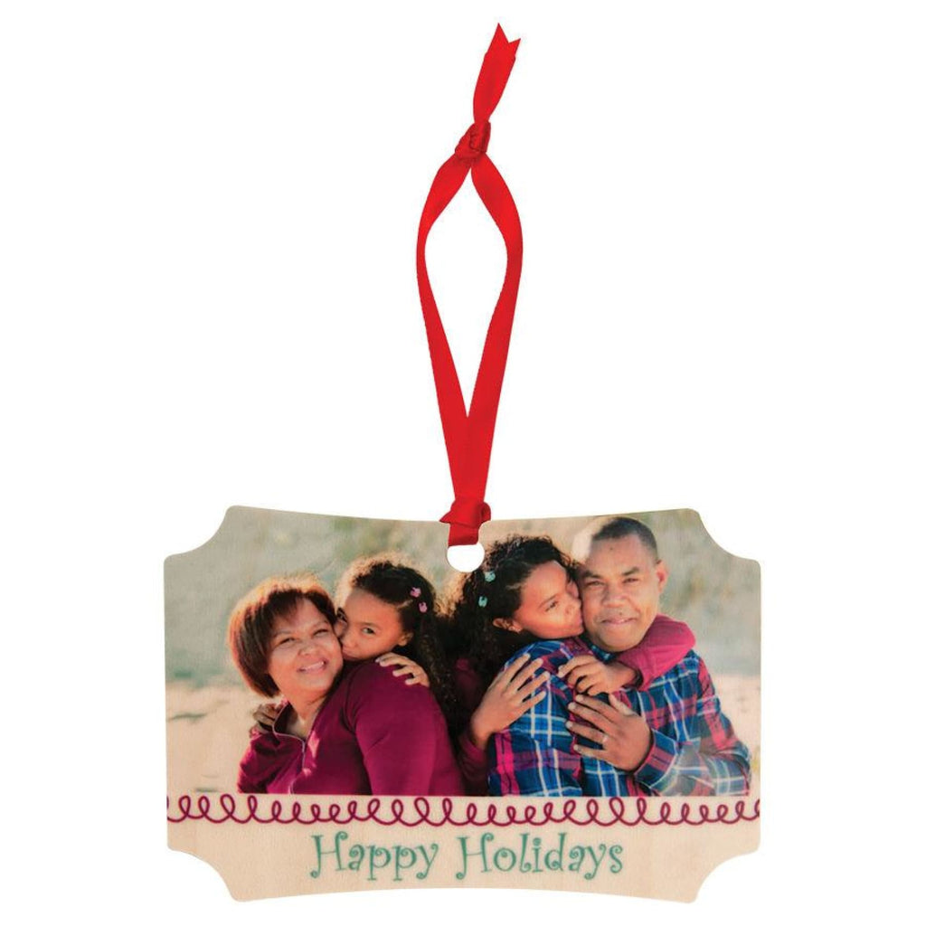 Color Maple Wood Ornaments - 4x2.75 Berlin Rectangle - Home Gifts