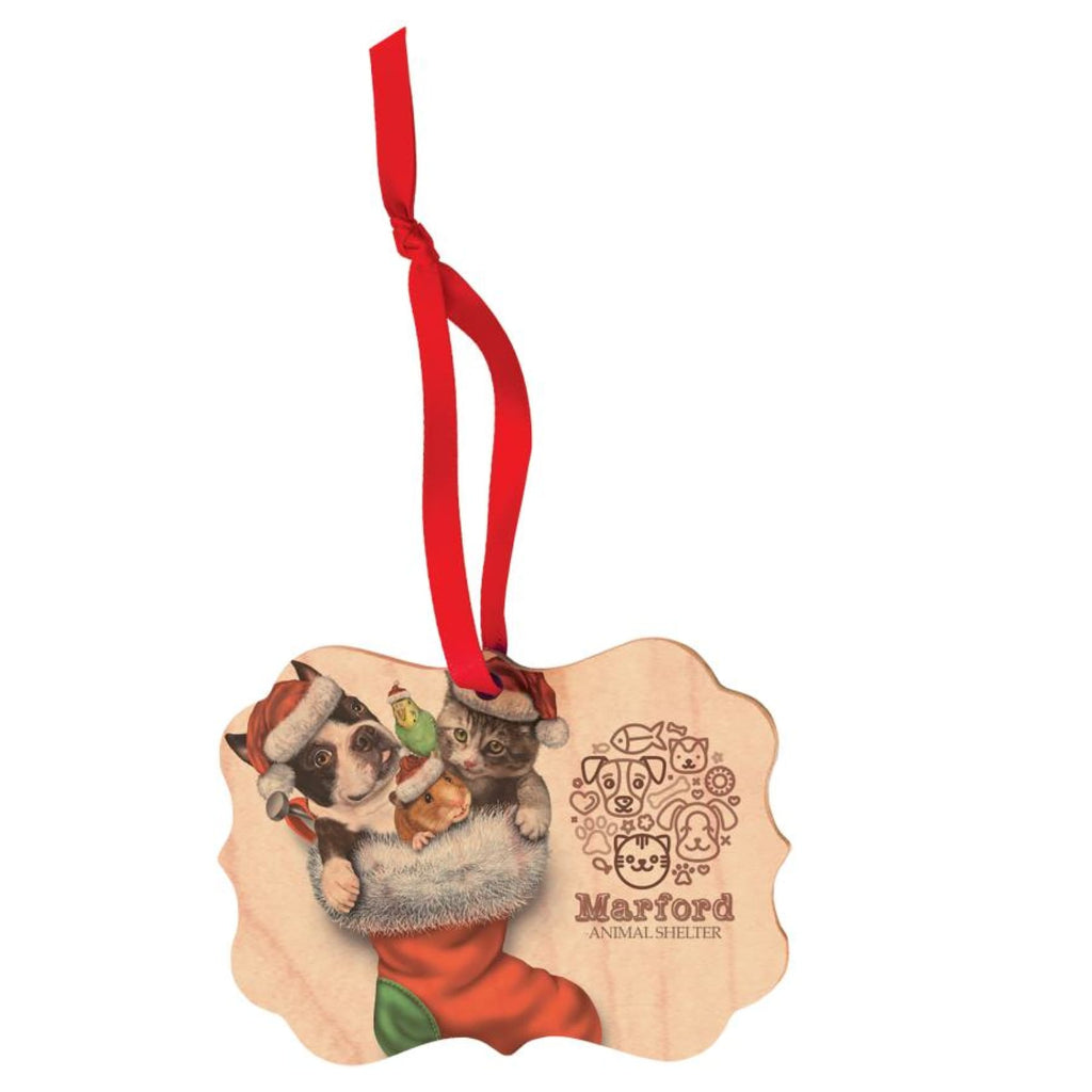 Color Maple Wood Ornaments - 4x2.75 Festive - Home Gifts