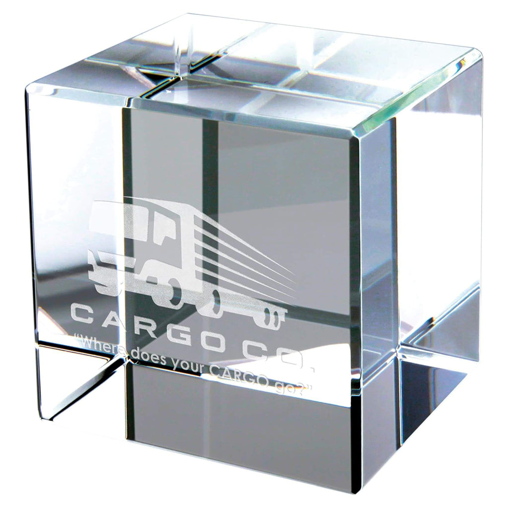 Crystal Block Cube - 3 - Office Gifts