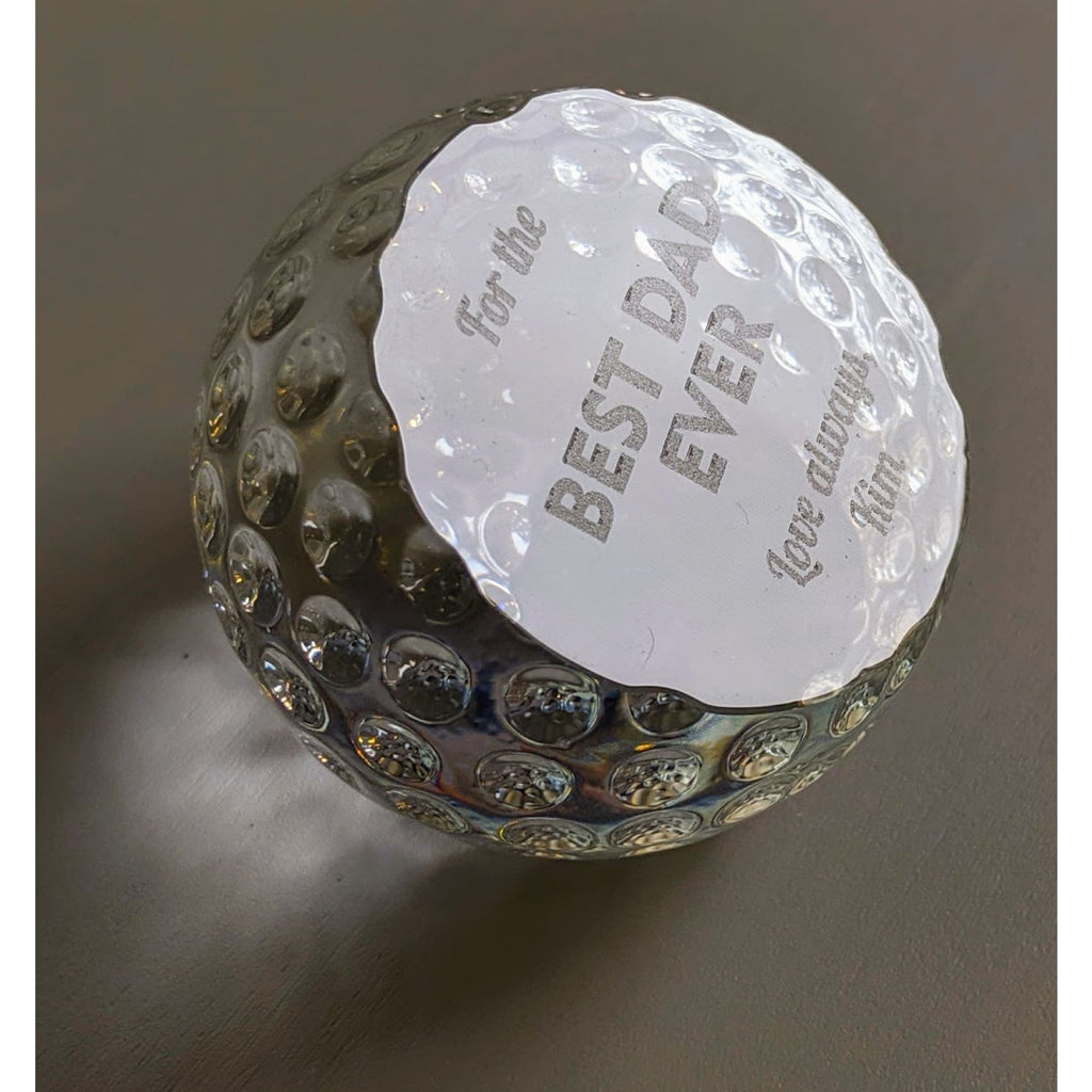 Crystal Golf Ball Paperweight - Office Gifts