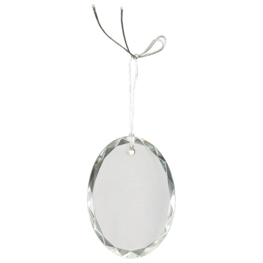 Crystal Ornaments - 3 faceted oval - Office Gifts
