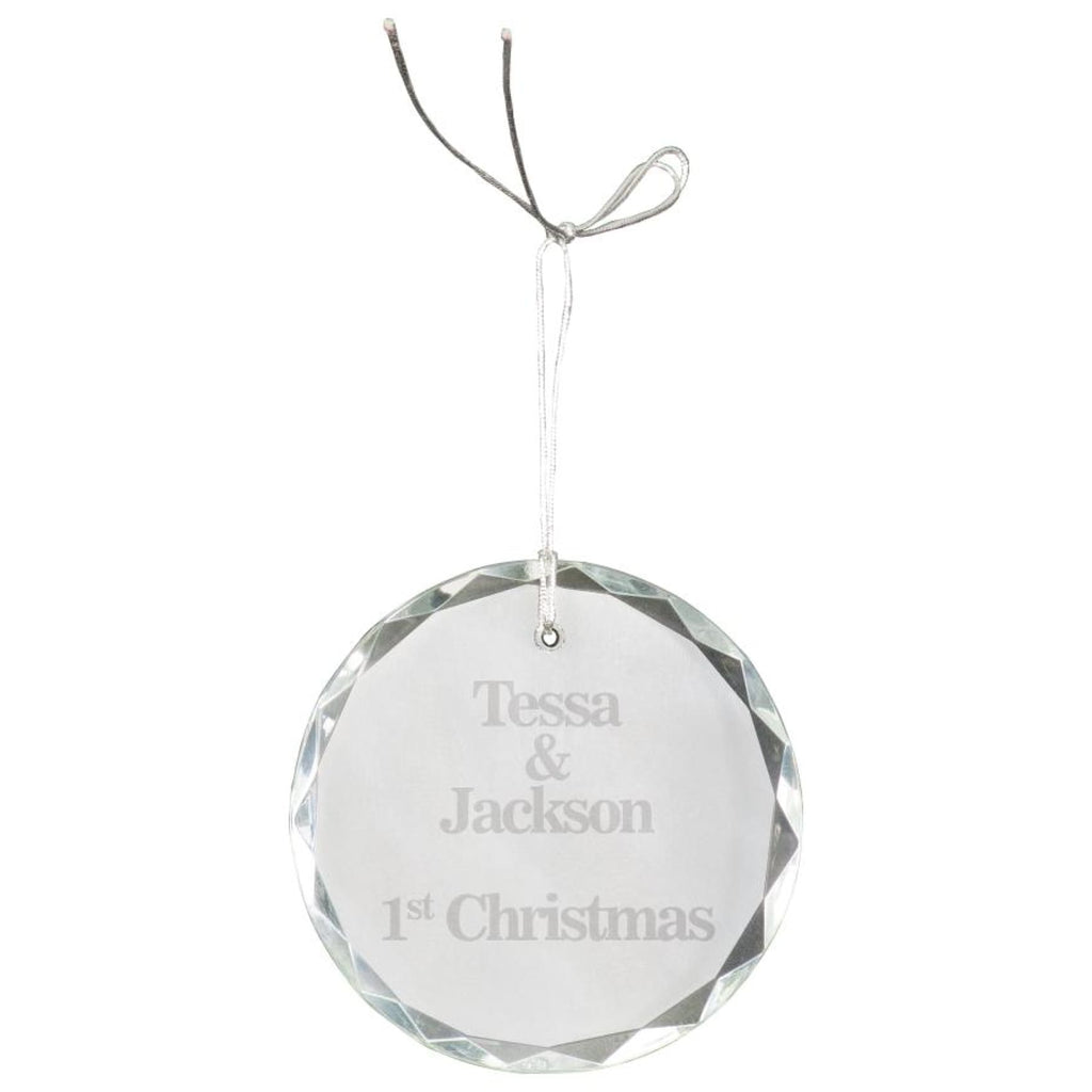 Crystal Ornaments - 3 faceted round - Office Gifts