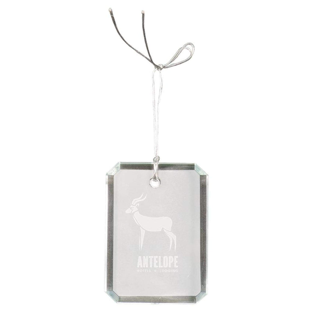 Crystal Ornaments - 3 rectangle clipped corner - Office Gifts