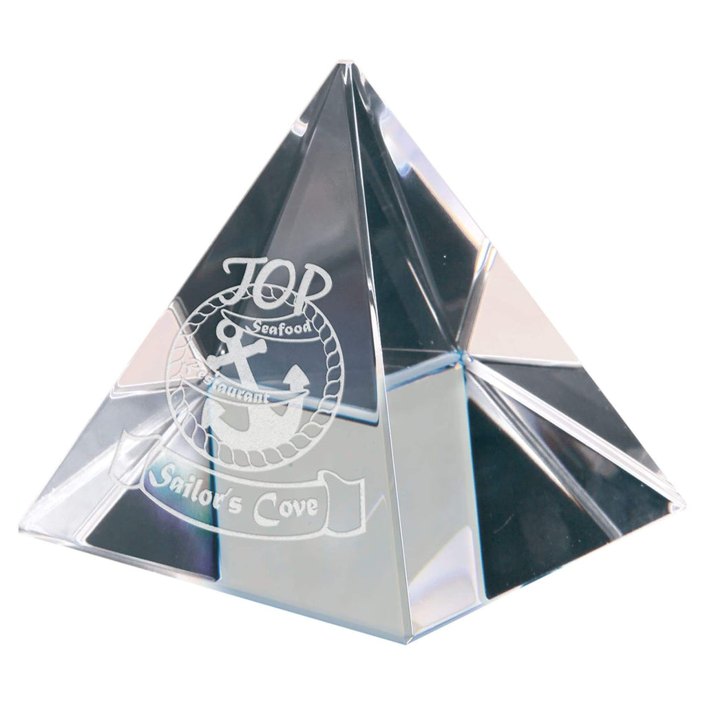 Crystal Pyramid - 2 3/8 - Office Gifts